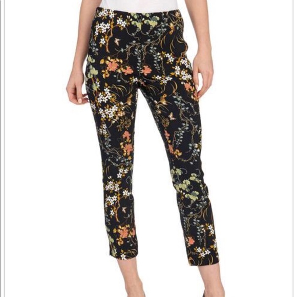 f37d9364ae1 Pull On Floral Slim Ankle Pant M